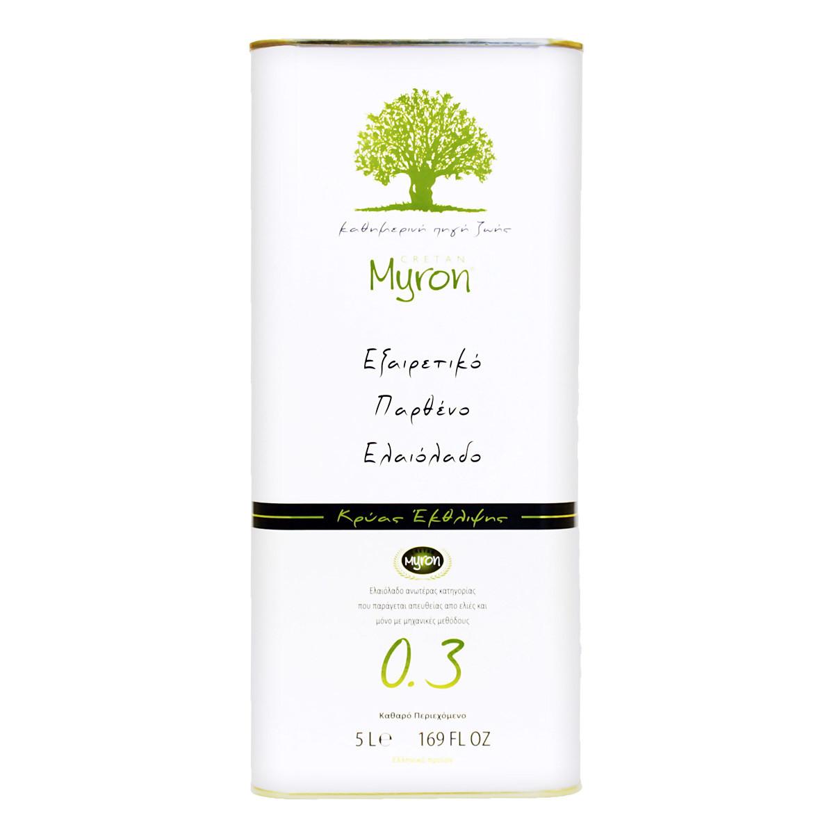 Масло оливковое э/в, МИРОН КРИТАН, 5л