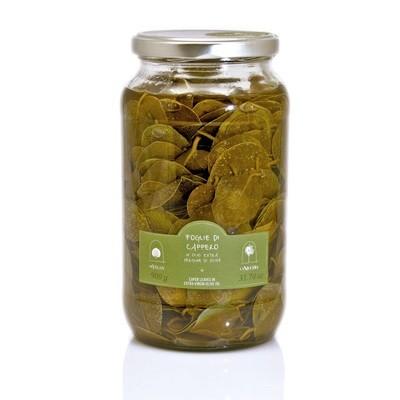 Каперсы, листья в оливковом масле, ЛА НИКЬЯ, стекло 900г