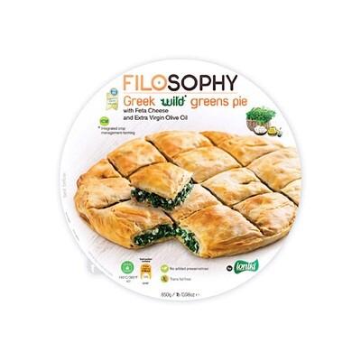 Пирог греческий с дикими травами, сыром фета и оливковым маслом, ФИЛОСОФИ, 850г