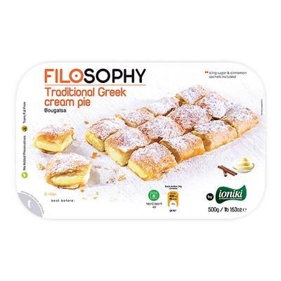 Пирог греческий Бугаца с заварным кремом, ФИЛОСОФИ, 500г