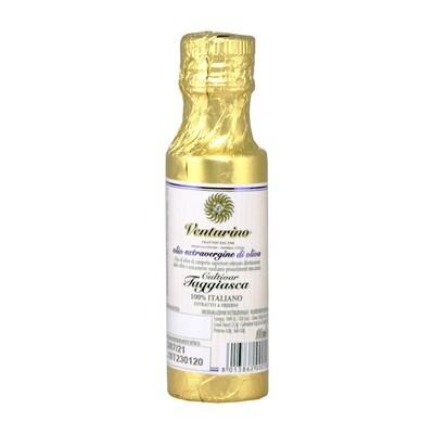 Масло оливковое э/в из оливок Таджиаски, ВЕНТУРИНО, золотая фольга 100мл
