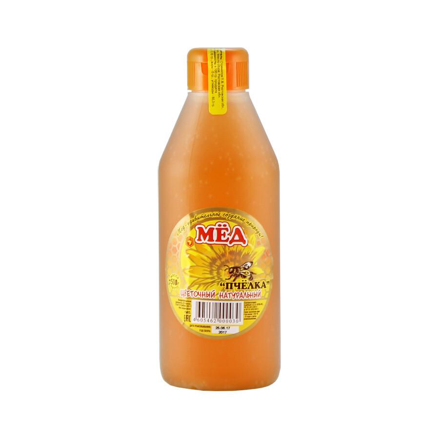 Мед цветочный в бутылке-дозаторе, ПЧЕЛКА, 750г