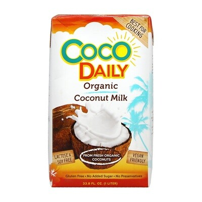 Кокосовое молоко (жир. 17-19%), КОКО ДЕЙЛИ, 1л