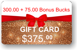 ViewIT Gift Card  Value: $300.00 + 75.00