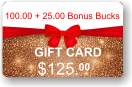 ViewIT Gift Card  Value: $100.00 + 25.00