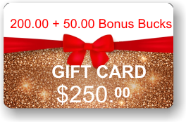 ViewIT Gift Card  Value: $200.00 + 50.00