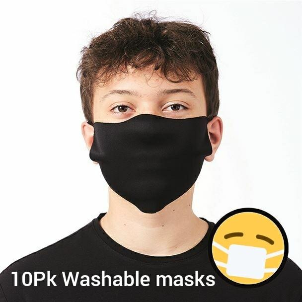 WASHABLE FACE MASK 10PK