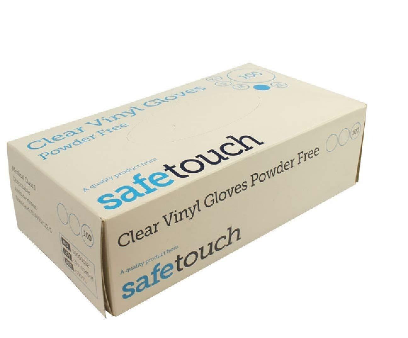 Clear Vinyl Gloves Box 100