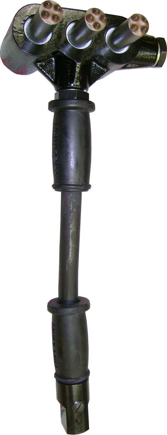 HEAVY DUTY TRIPLE HEAD SCABBLER - SIDE HANDLE