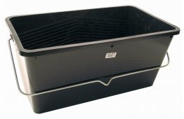 "20"" LARGE BLACK PLASTIC SCUTTLE 25LTR"