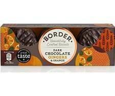 z Border Dark Chocolate Ginger Biscuits