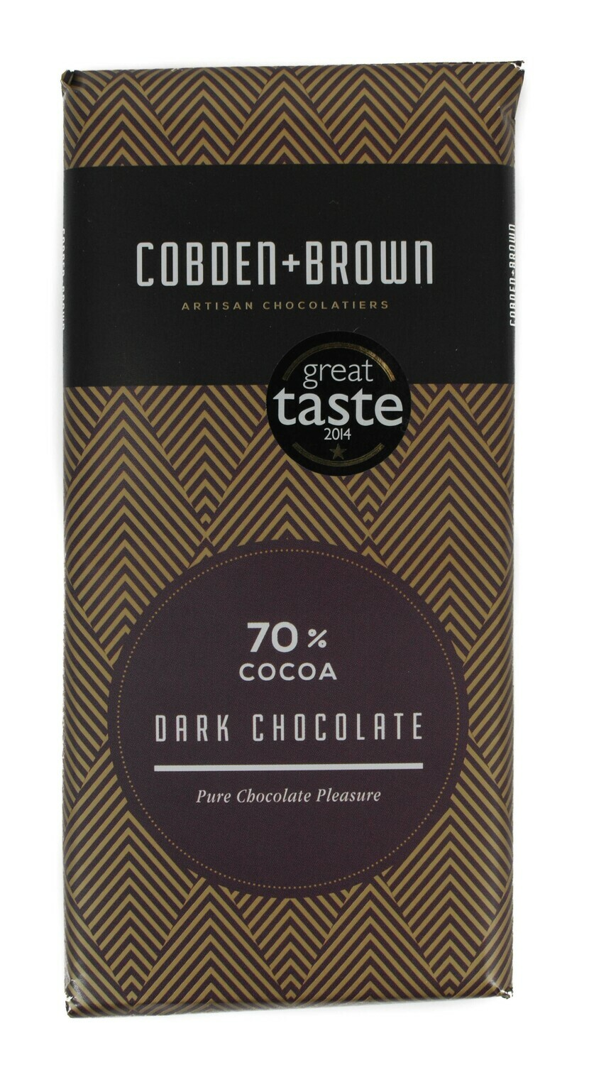 zz Cobden & Brown 70% Dark Chocolate