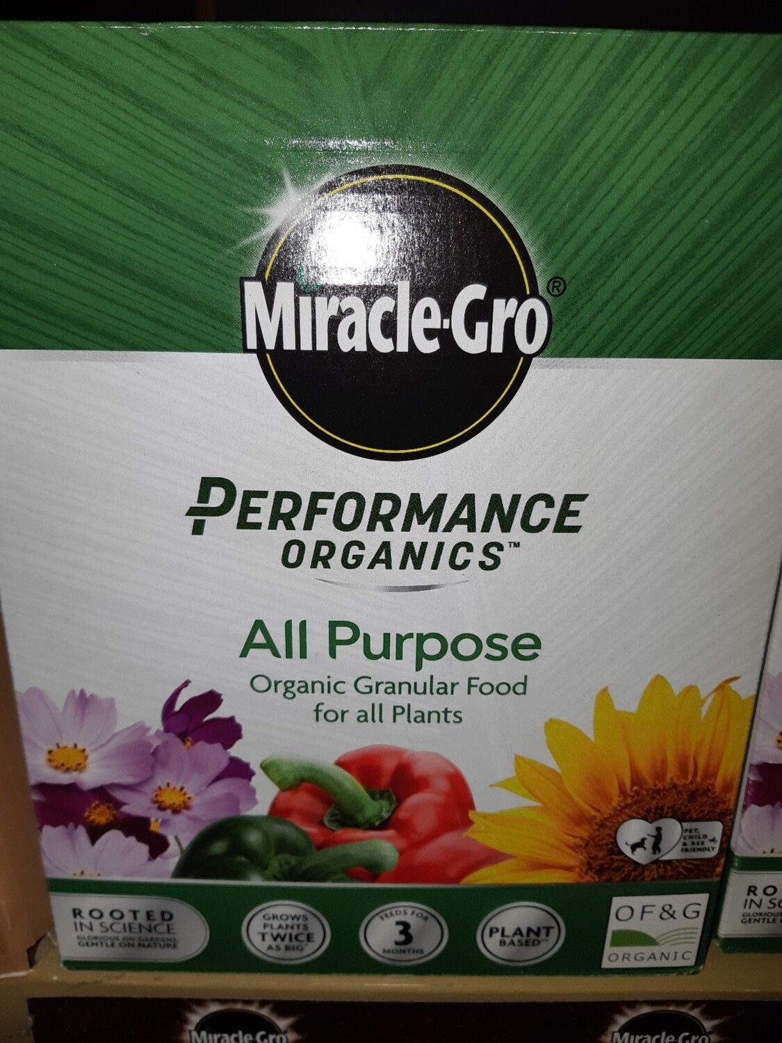 Zzz Miacle Gro Performance Organis All Purpose Plant Food