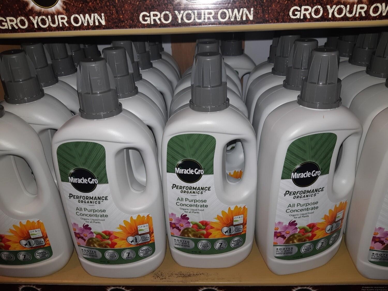 Zzz Miracle Gro Performance Organics All Purpose Plant Food