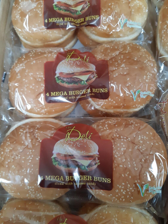 Z Mega Burger Buns 4pk