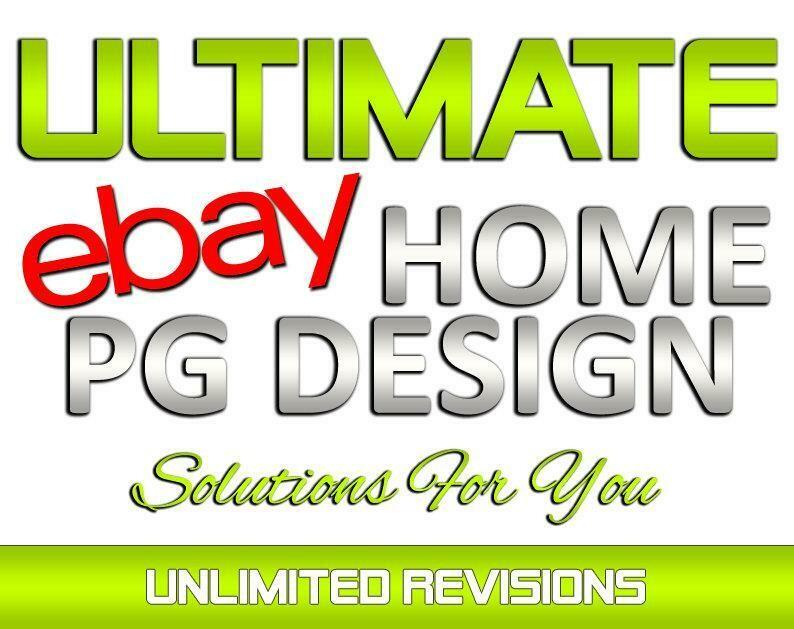 Custom Designed eBay Store HOME PAGE Design