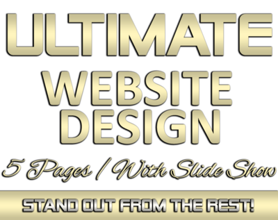 ULTIMATE 5 Page Website Design with SLIDE SHOW