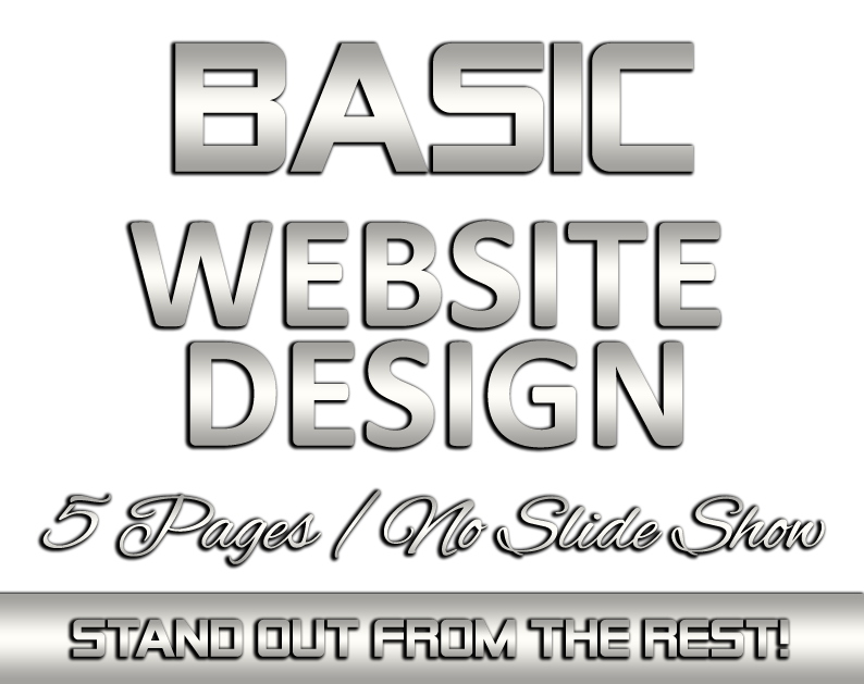 BASIC 5 Page Website Design with NO SLIDE SHOW