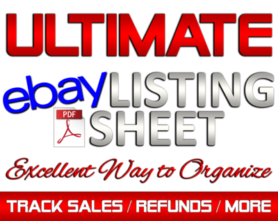 PDF eBay Listing Sheet to track sales, customers, and more!