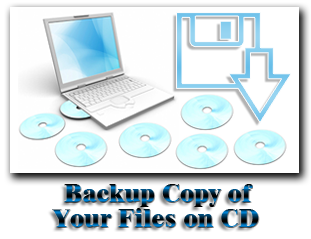 Backup Copy of your Files on CD