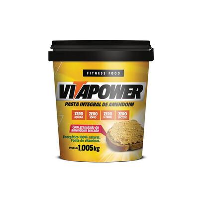 Pasta de Amendoim Integral Crocante (1,005KG) -Vitapower - Mrs Taste