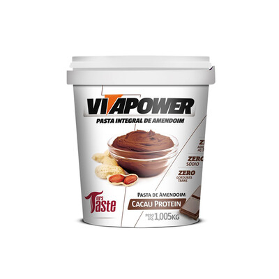 Pasta de Amendoim Cacau Protein (1,005KG) - Vitapower - Mrs Taste