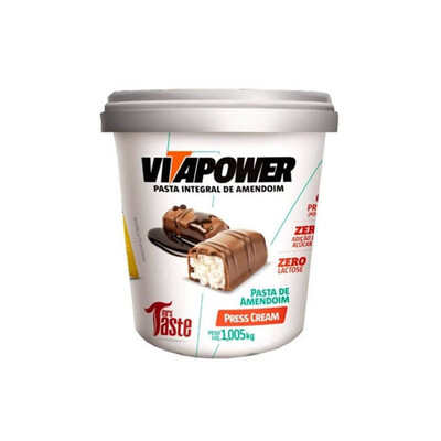 Pasta de Amendoim (Prestígio)  Press Cream(1,005KG) - Vitapower - Mrs Taste