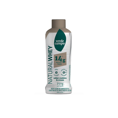 Iogurte Desnatado Natural Cookies and Cream 14g (250g) - Verde Campo