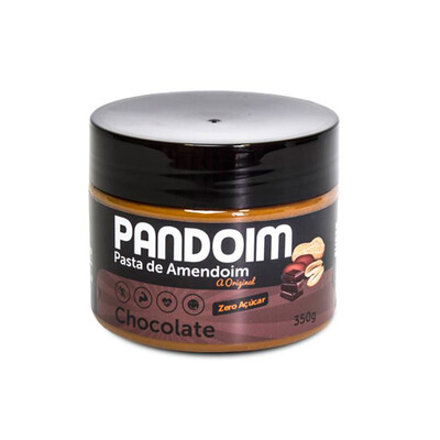 Pasta de Amendoim sem açúcar Chocolate (390g) - Pandoim