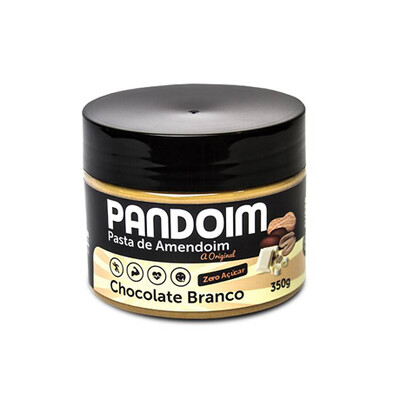 Pasta de Amendoim sem açúcar Chocolate Branco (390g) - Pandoim