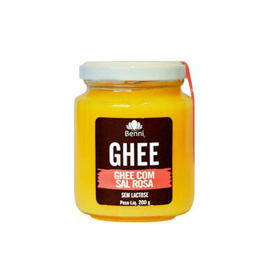 Manteiga Ghee com Sal Rosa (200g) - Benni
