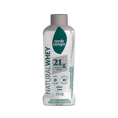 Iogurte Desnatado Natural Whey 21g Coco (250g) - Verde Campo