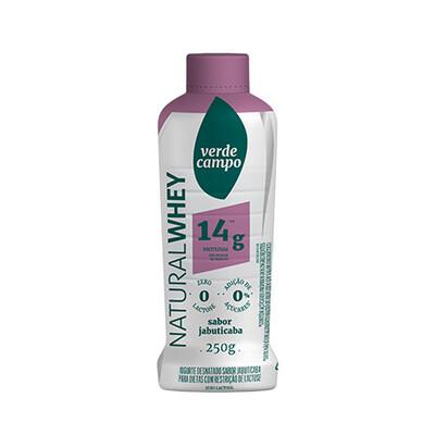 Iogurte Desnatado Natural Whey 14g Jabuticaba (250g) - Verde Campo