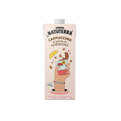 Cappuccino de Amêndoas - Sabor Chocolate (1L) - Natuterra