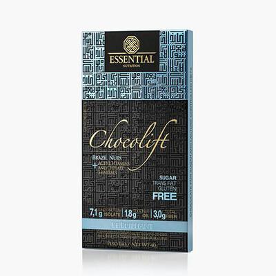 Chocolift Be Brilliant   Chocolate proteico com castanha-do-pará (40g) - Essential Nutrition