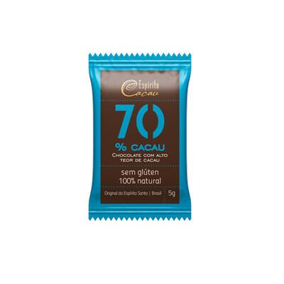 Chocolate 70% Cacau (5g) - Espírito Cacau