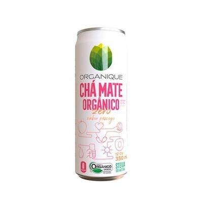 Chá Mate Orgânico Zero Pêssego (350ml) - Organique