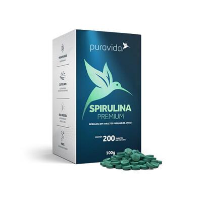 Spirulina (200 tabletes) - Puravida