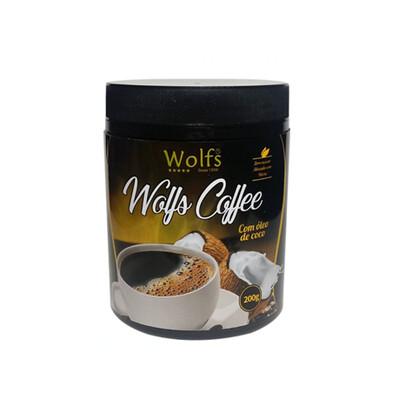 Wolfs Coffee com Óleo de Coco (200g) - Wolfs
