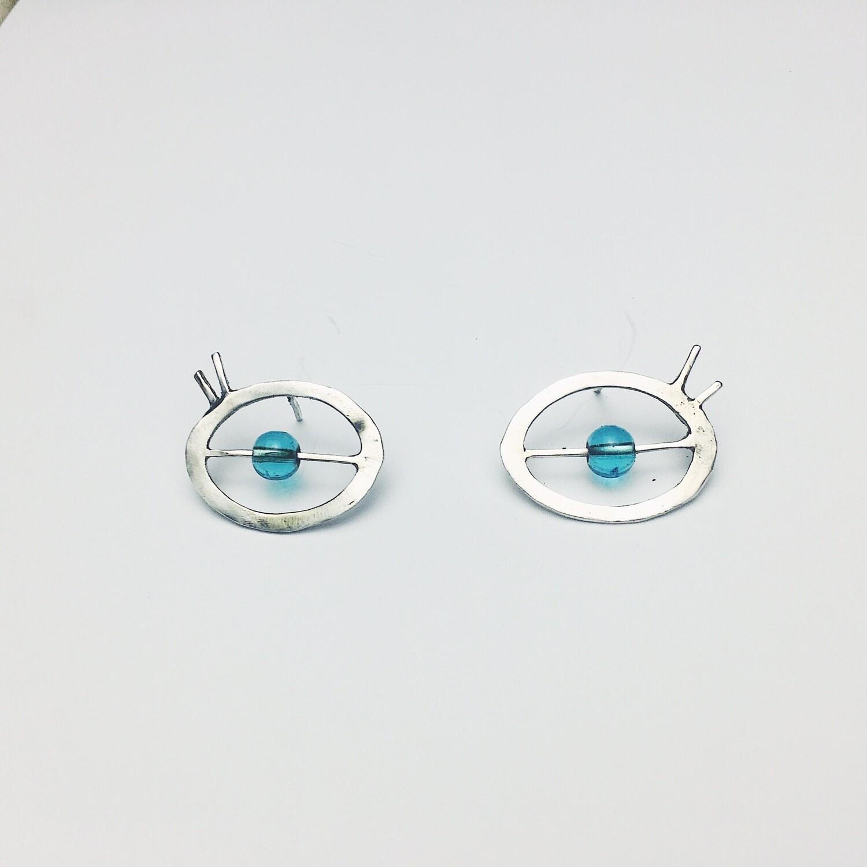 Серьги-гвоздики-глаза