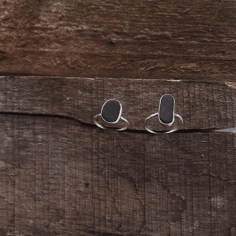 Кольцо со средиземноморским камешком