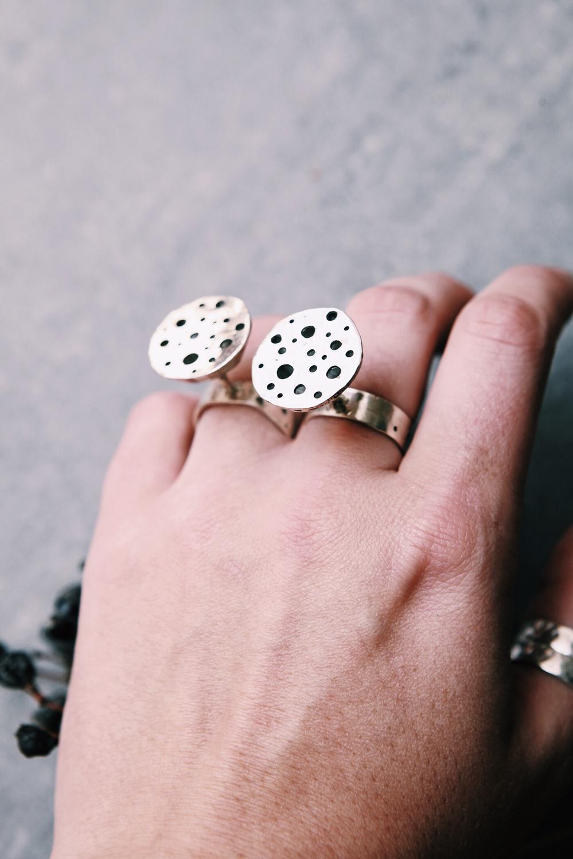 Кольца - сухие цветы лотоса