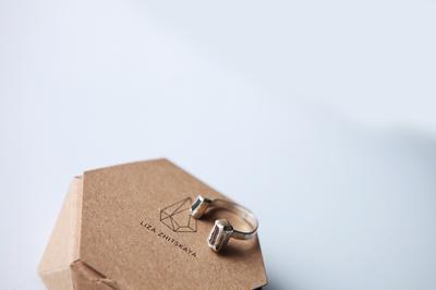 Серебряное кольцо с двумя турмалинами
