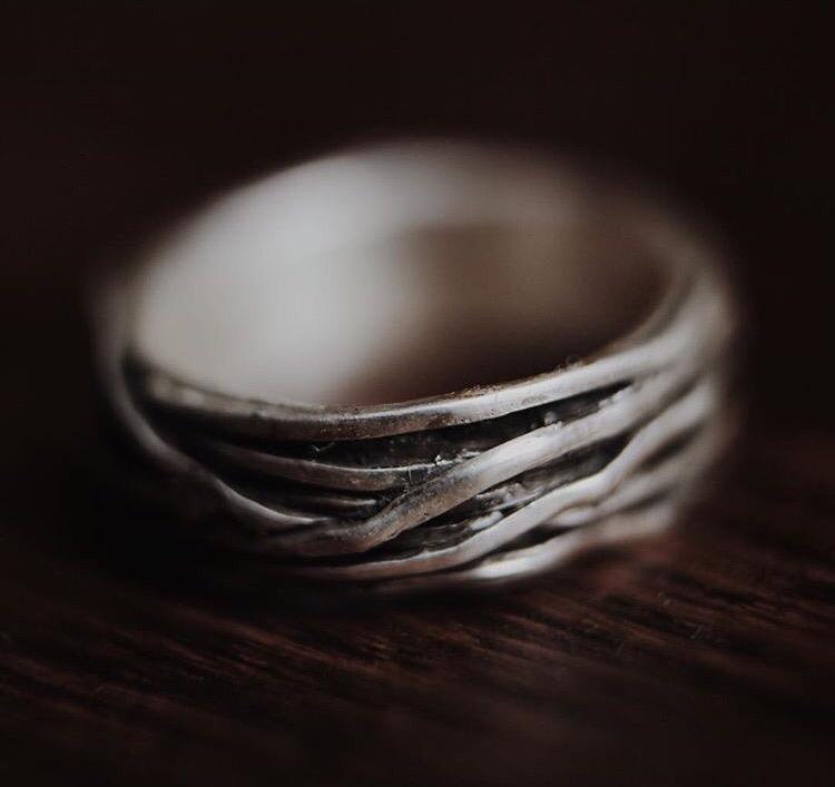 "Серебряное ""плетёное"" кольцо"