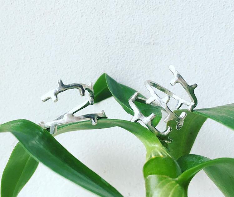 Серебряное кольцо - вьюн