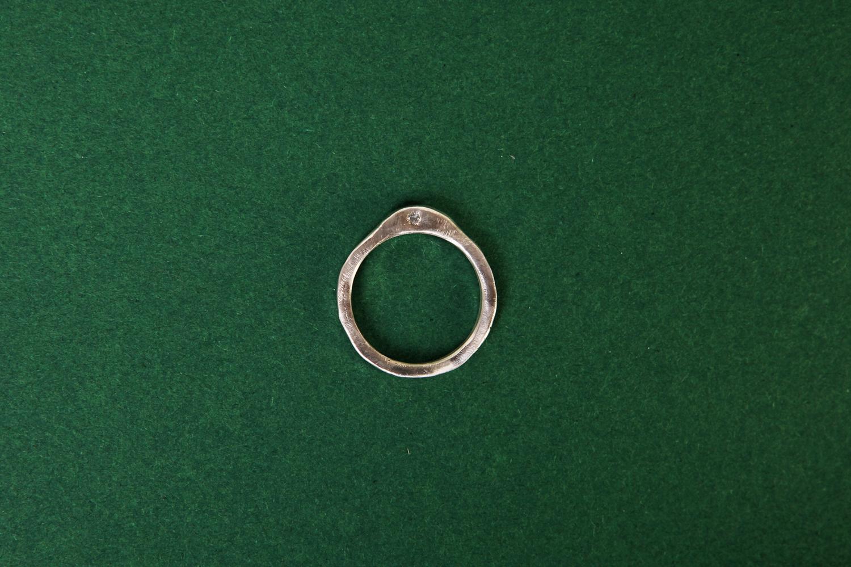 Серебряное кольцо с огранёнными топазом и аметистом