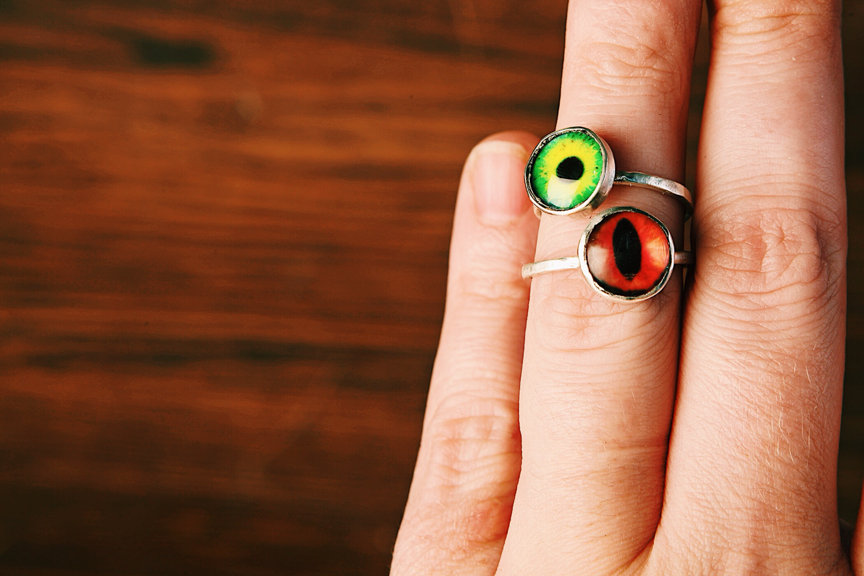 Серебряное кольцо - глаз