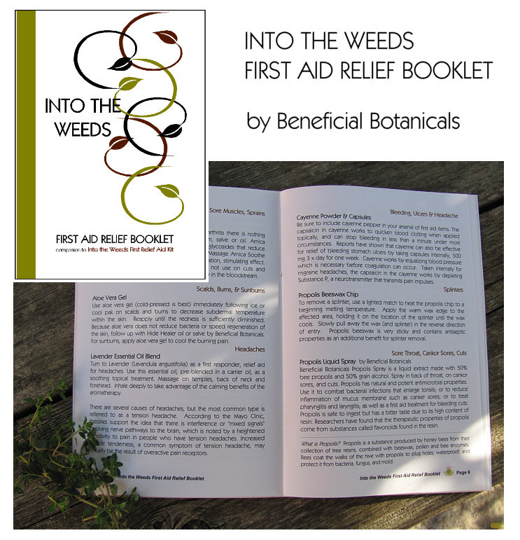Into the Weeds First Aid Relief Booklet