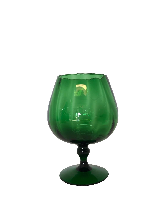 Mid Century Green Footed Vase