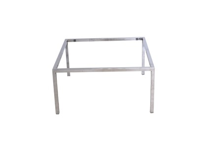 Mid Century Modern Square Chrome Coffee Table Base